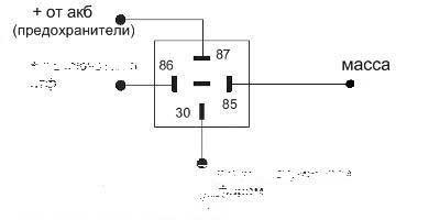 Схема подключения 4 контактного реле управление минусом