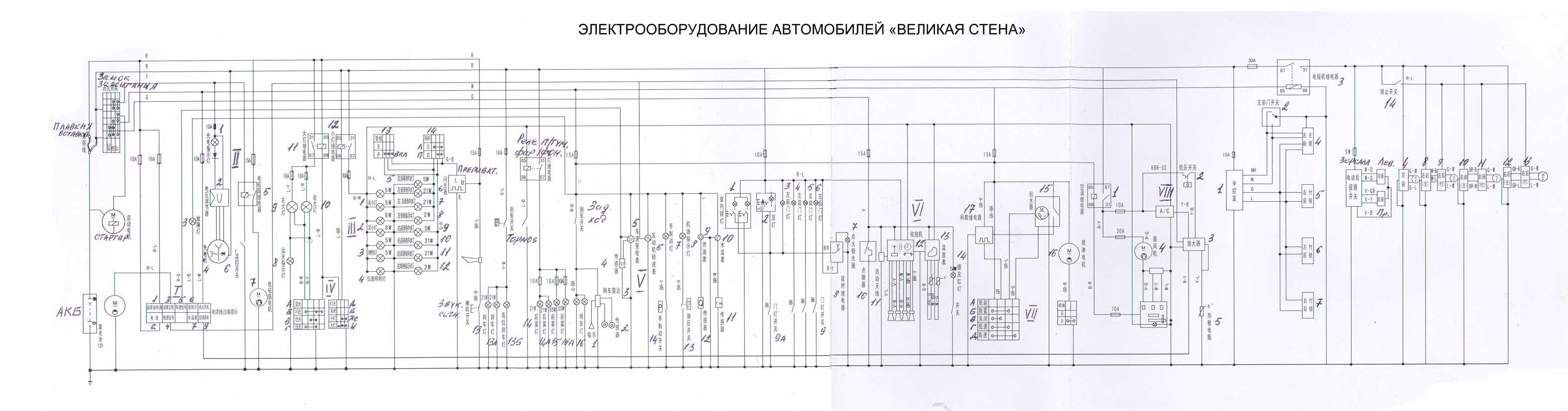 схема датчик ручного тормоза для чери тиго