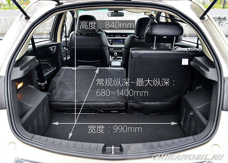 Geely Vision X3: Trunk size