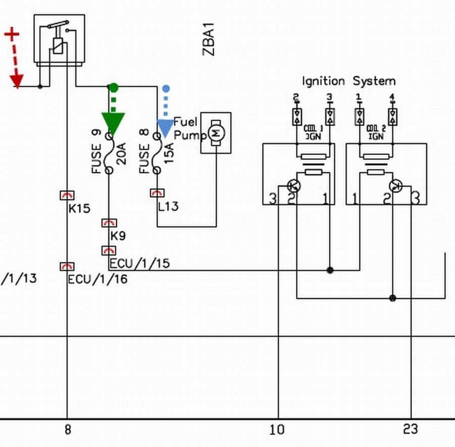 электрическая схема двигатель 402